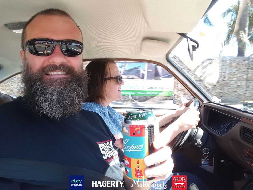 09-Buick-Opel-by-Isuzu-Sarah-driving-with-Dave-drinking-beer